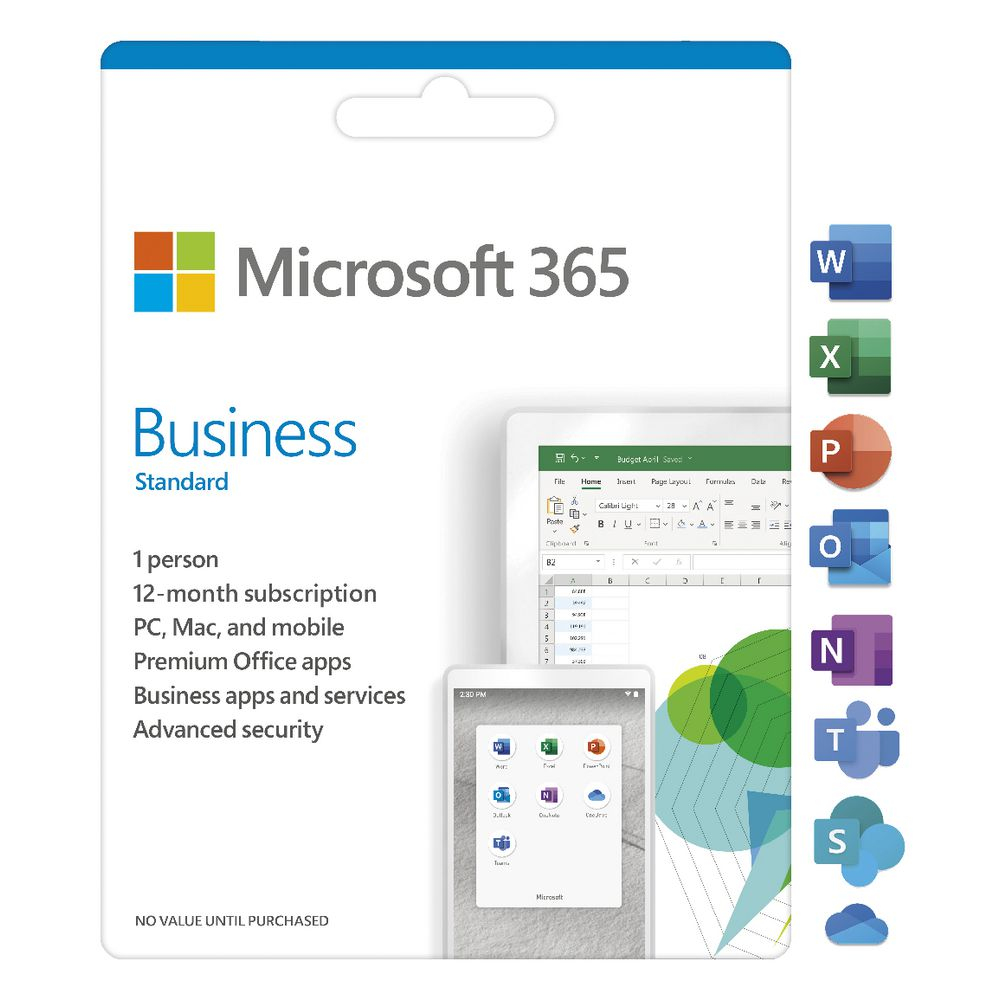 Microsoft 365 Business Standard 1 Person 12 Month Download Officeworks