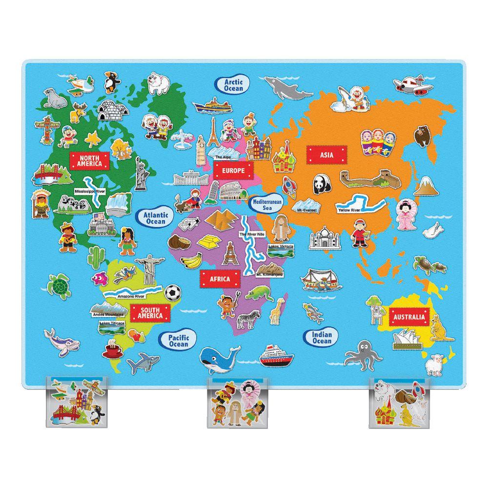 Huge Map Of The World.Huge World Felt Map Officeworks