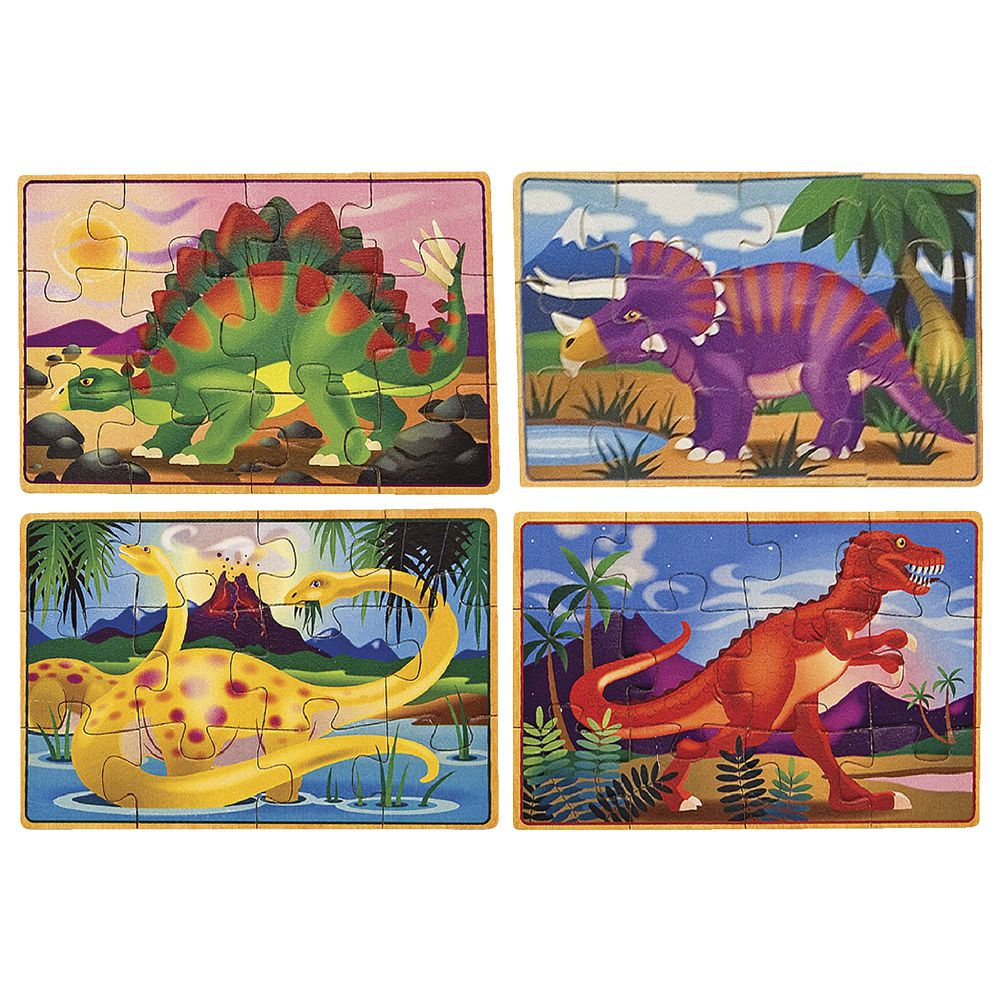 Melissa Doug Puzzle In A Box Dinosaurs