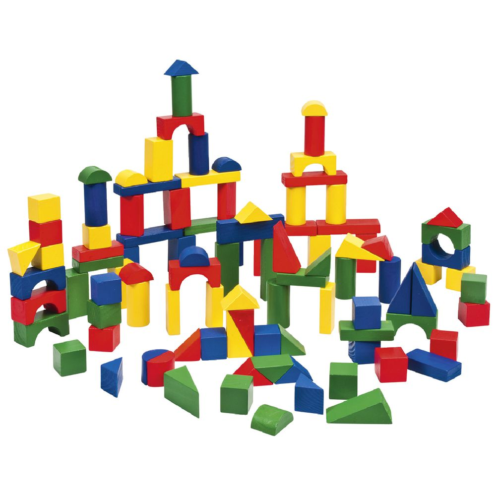 Melissa & Doug Wooden Block Set 100 Pack
