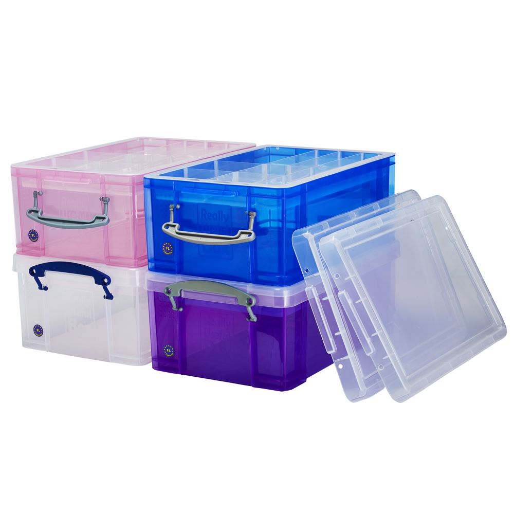 really useful box 9l and tray clear officeworks. Black Bedroom Furniture Sets. Home Design Ideas