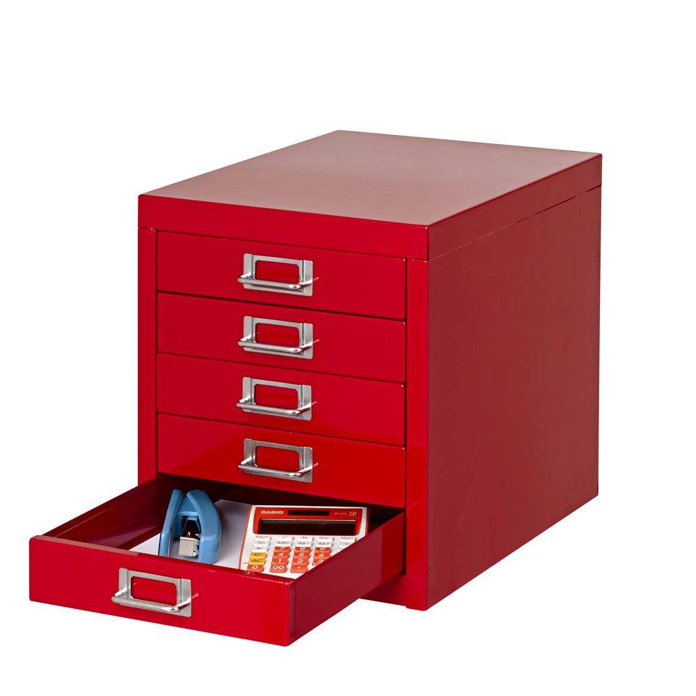 Brilliant Spencer 5 Drawer Desktop Cabinet Red Beutiful Home Inspiration Cosmmahrainfo