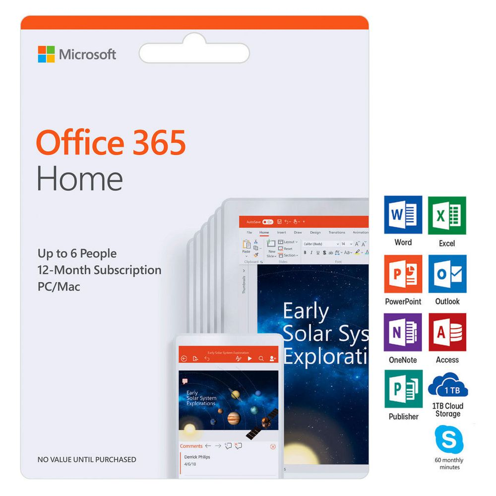 microsoft office 365 home 5 device 12 months download officeworks. Black Bedroom Furniture Sets. Home Design Ideas