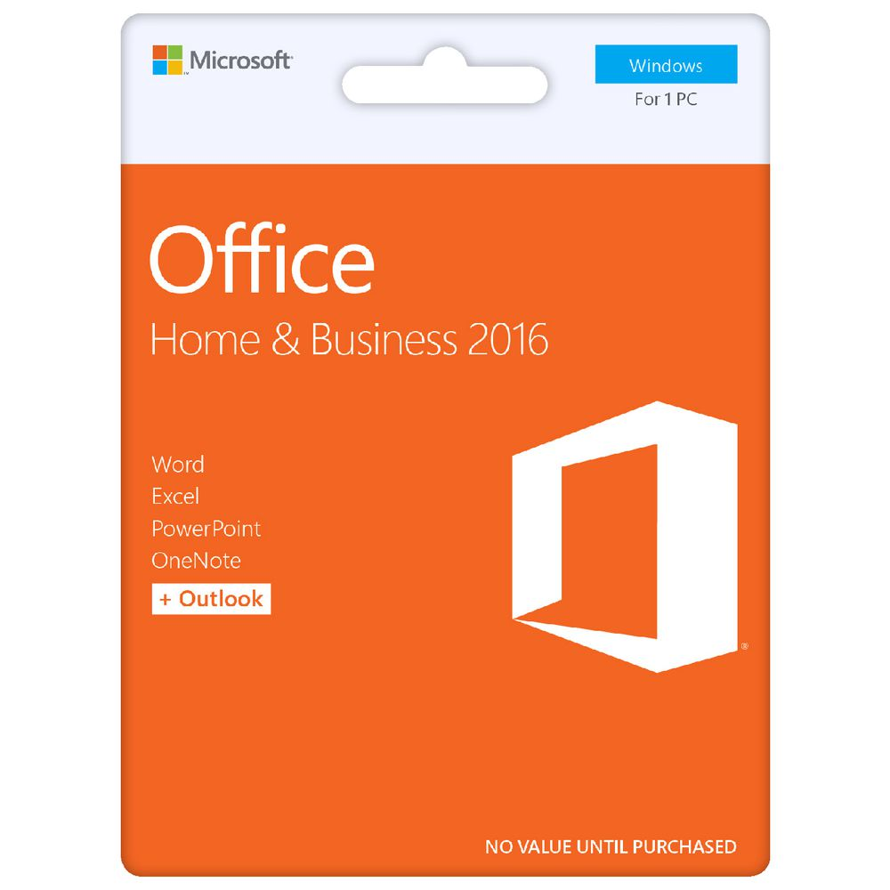 microsoft office home and business 2016 1 pc card officeworks. Black Bedroom Furniture Sets. Home Design Ideas