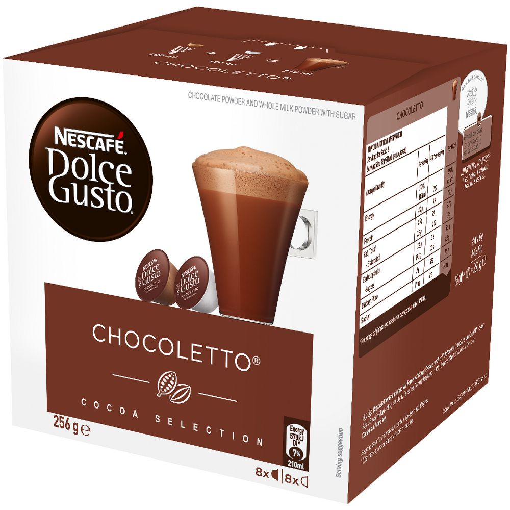 Nescafe Dolce Gusto Chocoletto Hot Chocolate Pods 8 Pack