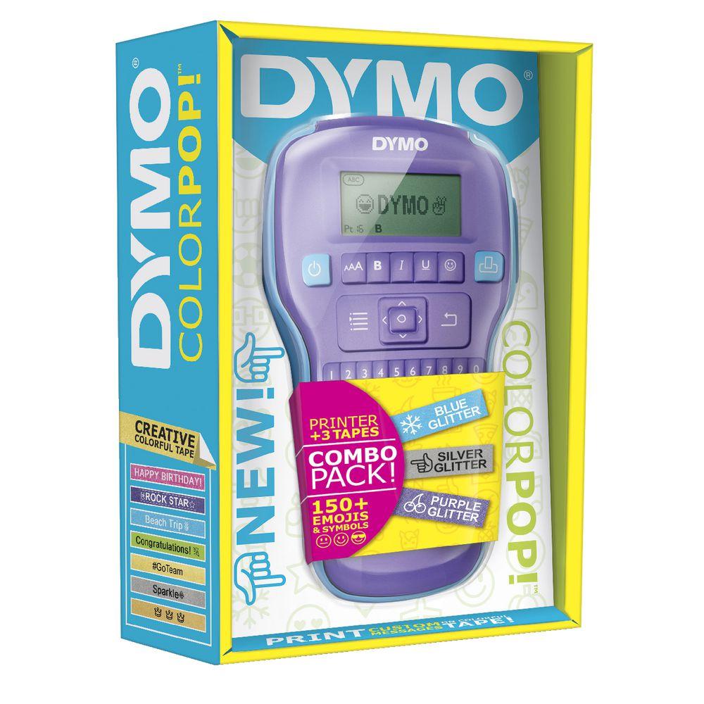 DYMO Colorpop Handheld Label Maker Value Pack Purple