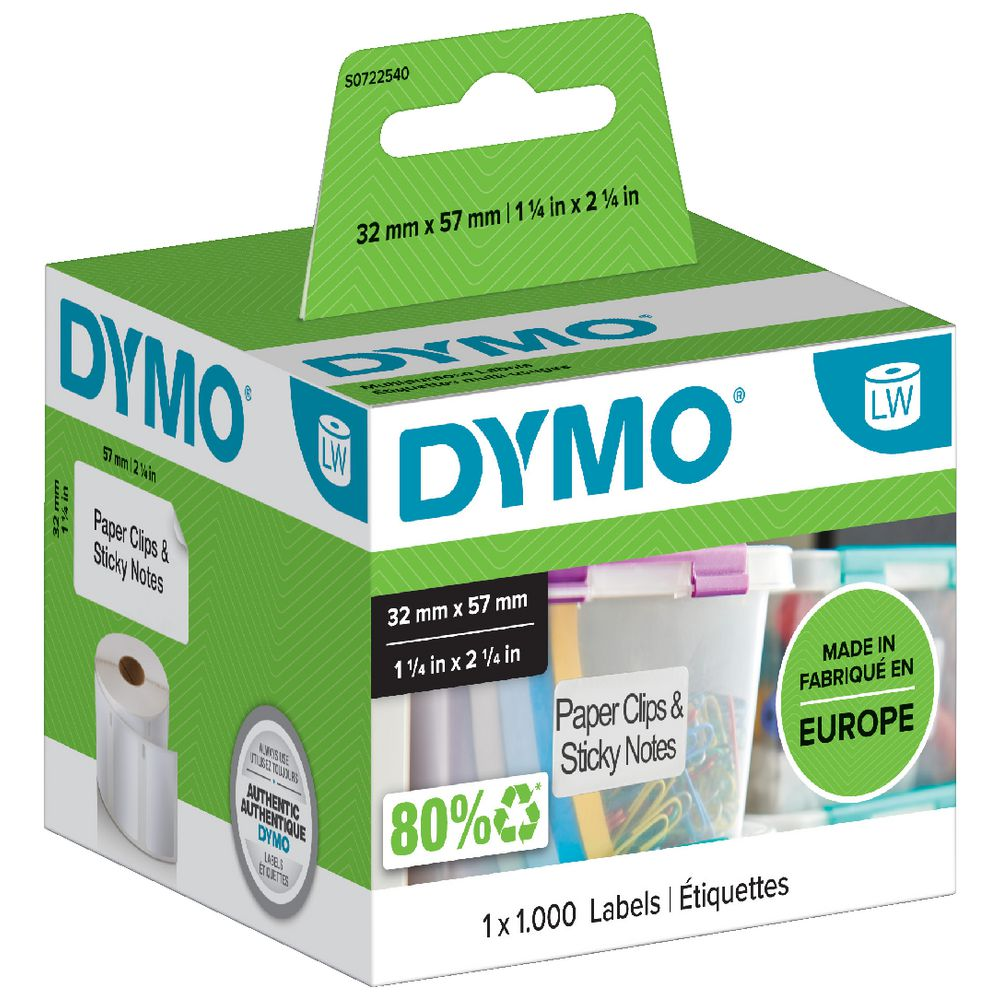 10 Rolls Dymo 11353 Compatible 12mm x 24mm LabelWriter Self-Adhesive White Extra Small 2-Up Multipurpose Labels