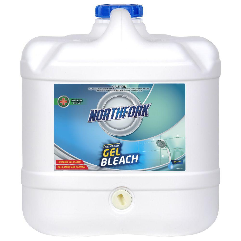 Northfork Bathroom Gel Anti Bacterial Bleach 15L | Officeworks