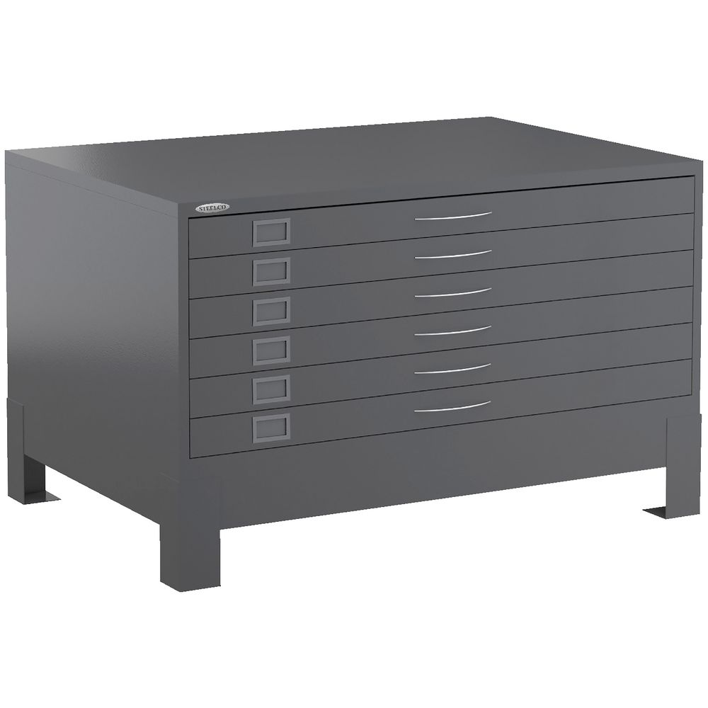 Steelco Plan 6 Drawer Cabinet Graphite Ripple | Officeworks