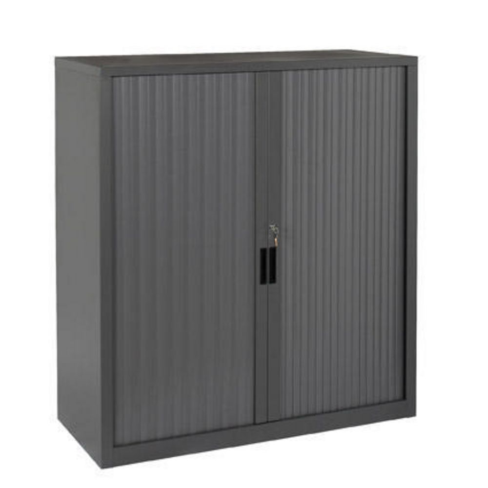 Steelco Tambour Door Cupboard 1015 x 1200mm Graphite Ripple ...