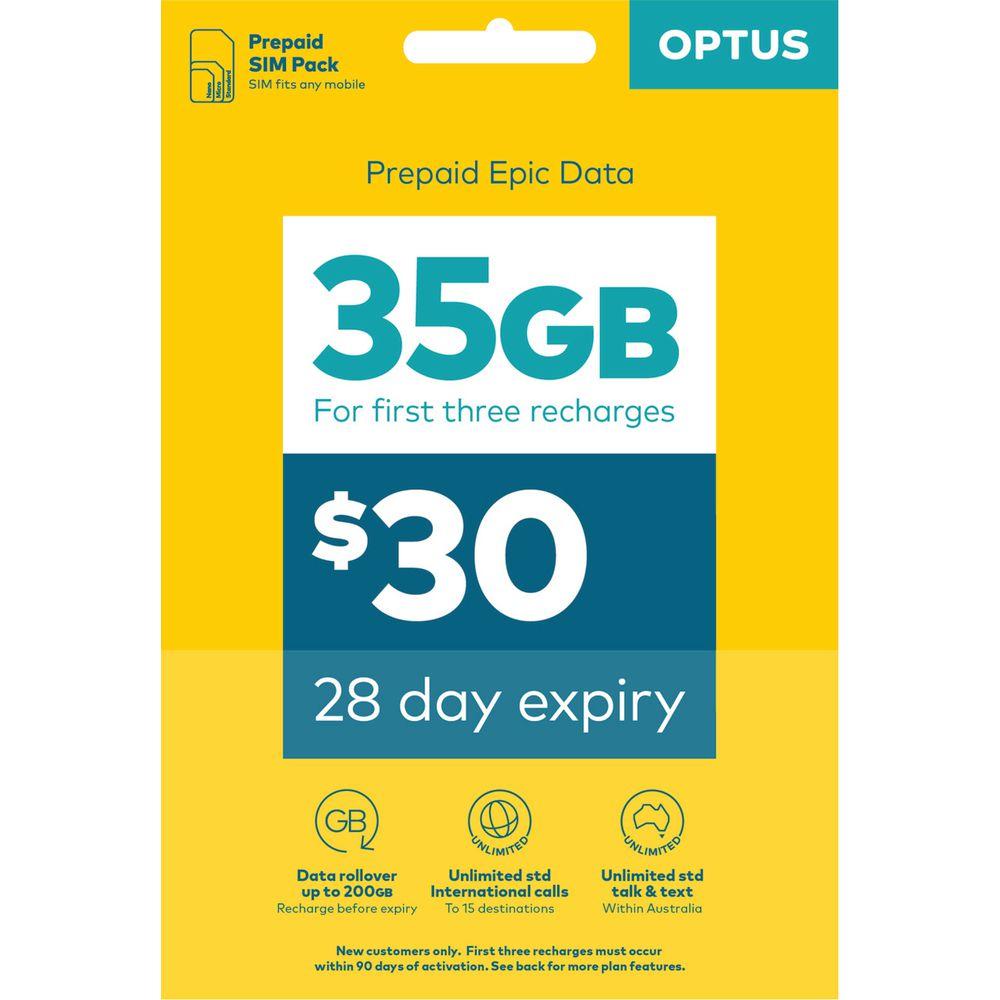 Optus $30 Voice Triple SIM Starter Kit | Officeworks