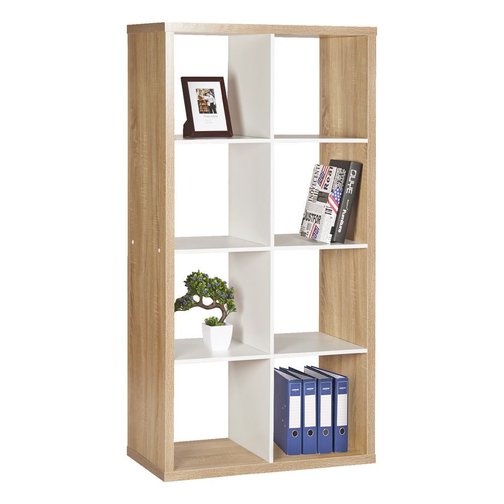 horsens  cube bookshelf oak and white  officeworks - horsens  cube bookshelf oak and white