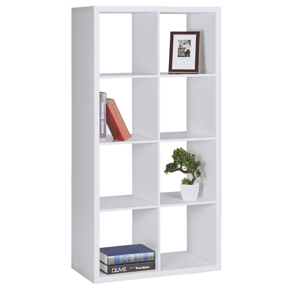 horsens  cube bookshelf white  officeworks - horsens  cube bookshelf white