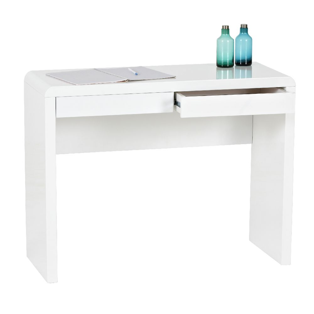arc 2 drawer desk white officeworks rh officeworks com au white desk with drawers modern white desk with drawers on both sides