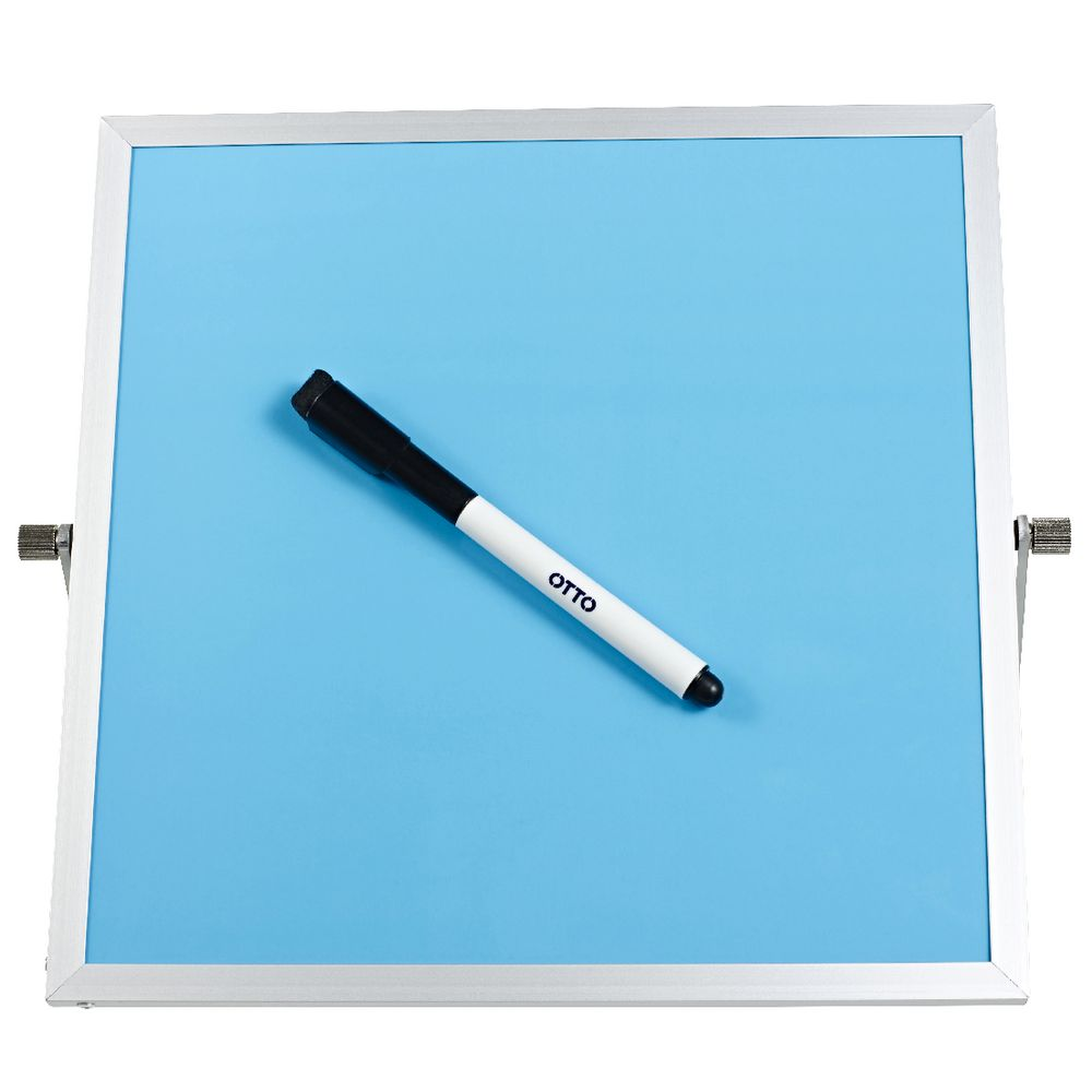 J Burrows Double Sided Whiteboard Blue Officeworks