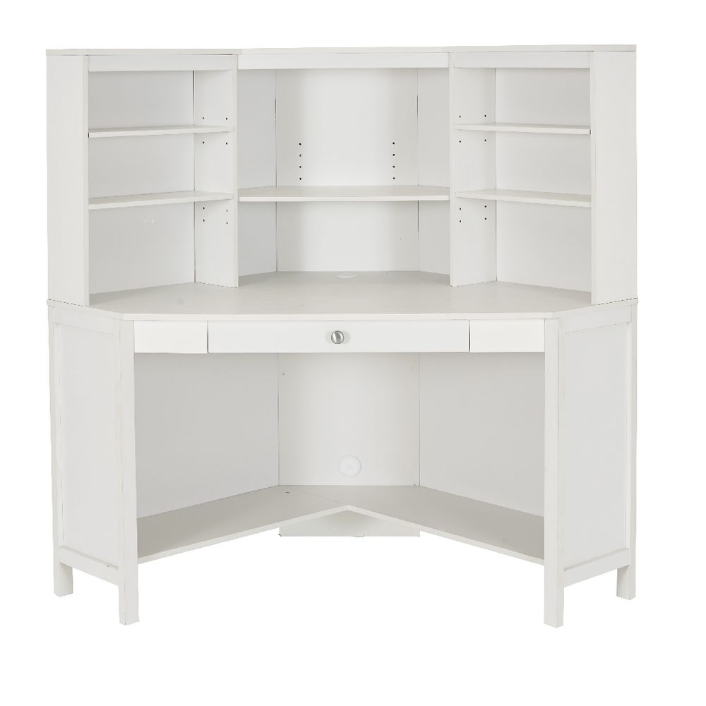 Grace vintage corner hutch desk officeworks for White desk with hutch ikea