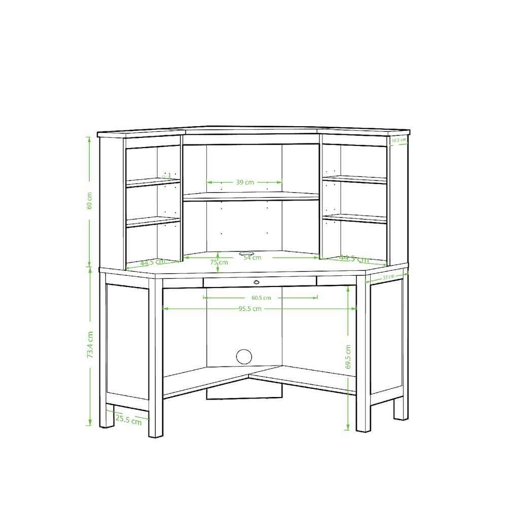 corner free product shipping today desk garden and home simple hutch set living