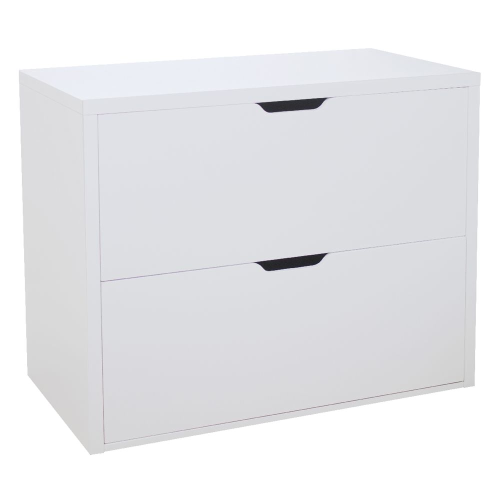 horsens 2 drawer lateral filing cabinet white | officeworks