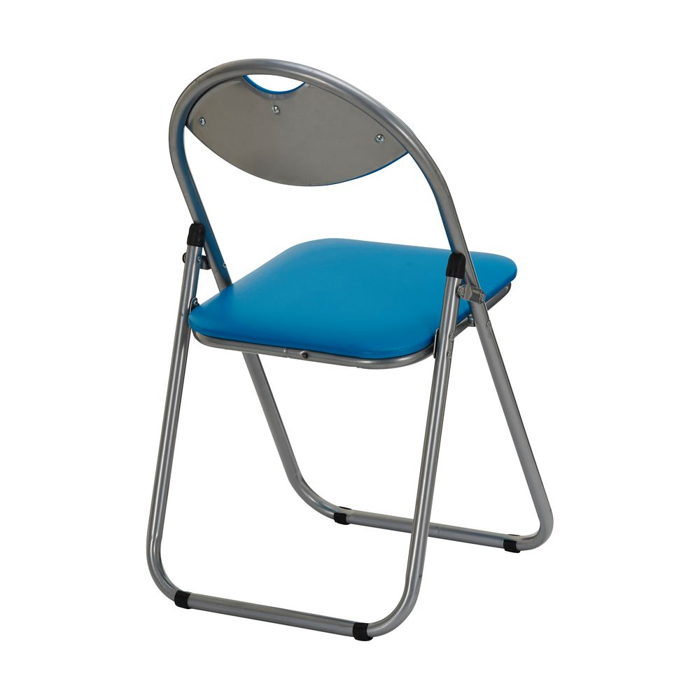 Padded Folding Chair Blue
