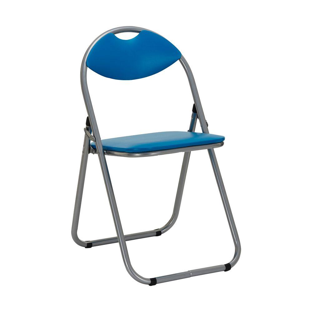 Padded Folding Chair Blue Officeworks