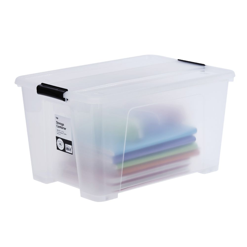 Keji 52L Plastic Storage Container Clear