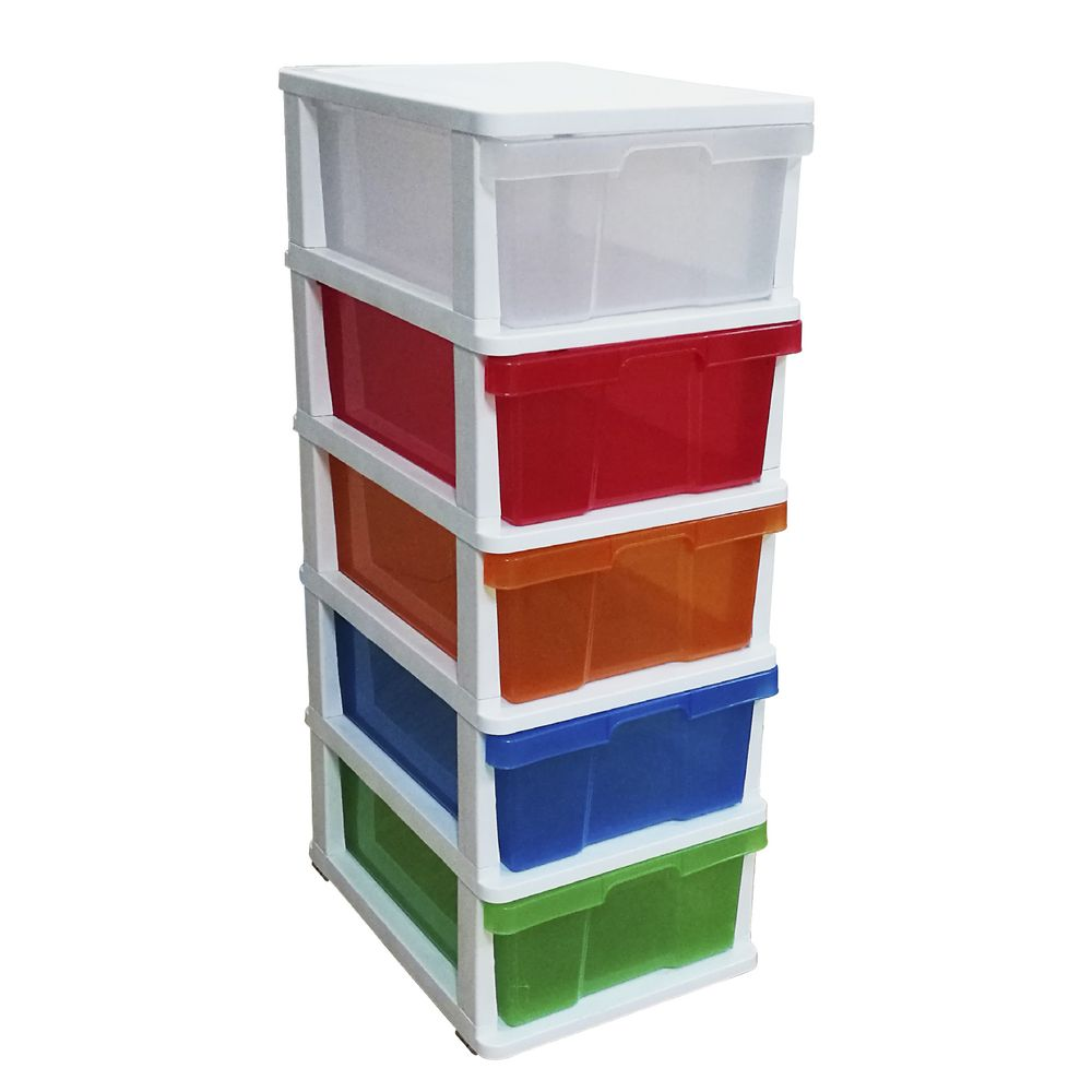 J.Burrows Coloured 5 Drawer Cabinet