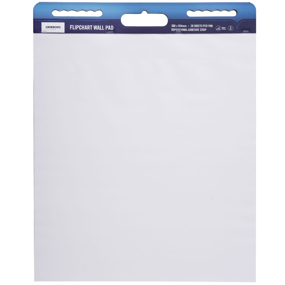 Repositionable Flipchart for Meeting Charts pack of 4 2 free Sticky Pack