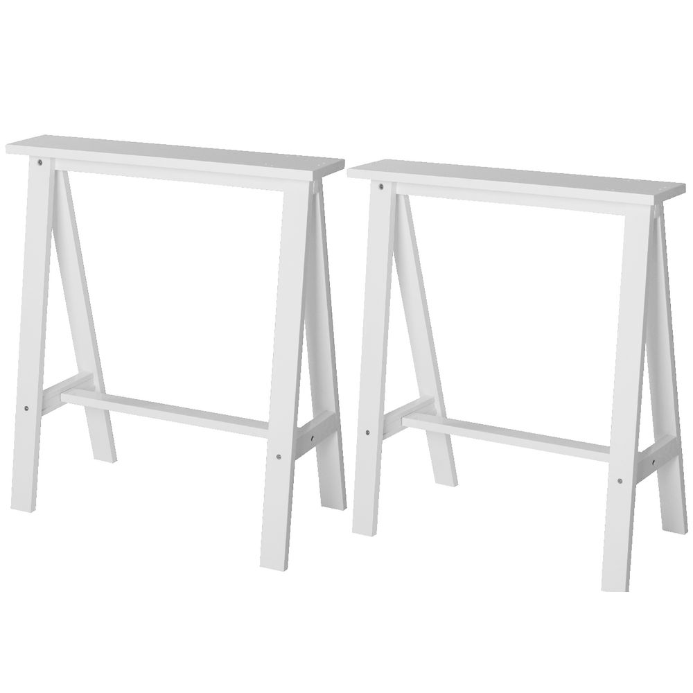 mix and match trestle legs 2 pack white officeworks. Black Bedroom Furniture Sets. Home Design Ideas