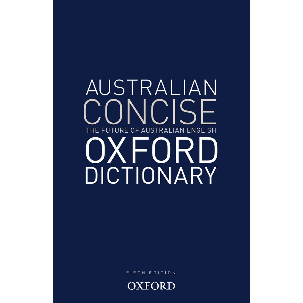 australian concise oxford dictionary 6th edition