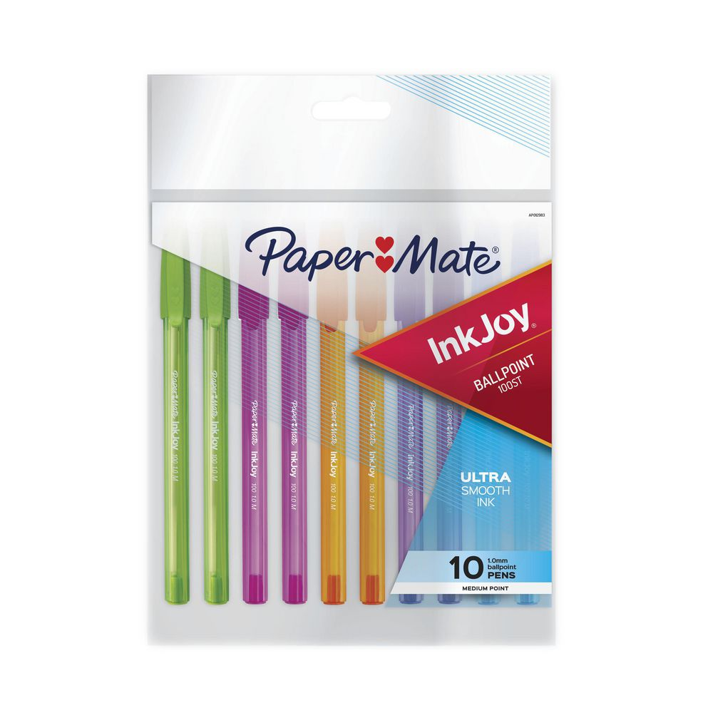 New Paper Mate Inkjoy 100 Pens 1 Pack Of 10 Pens