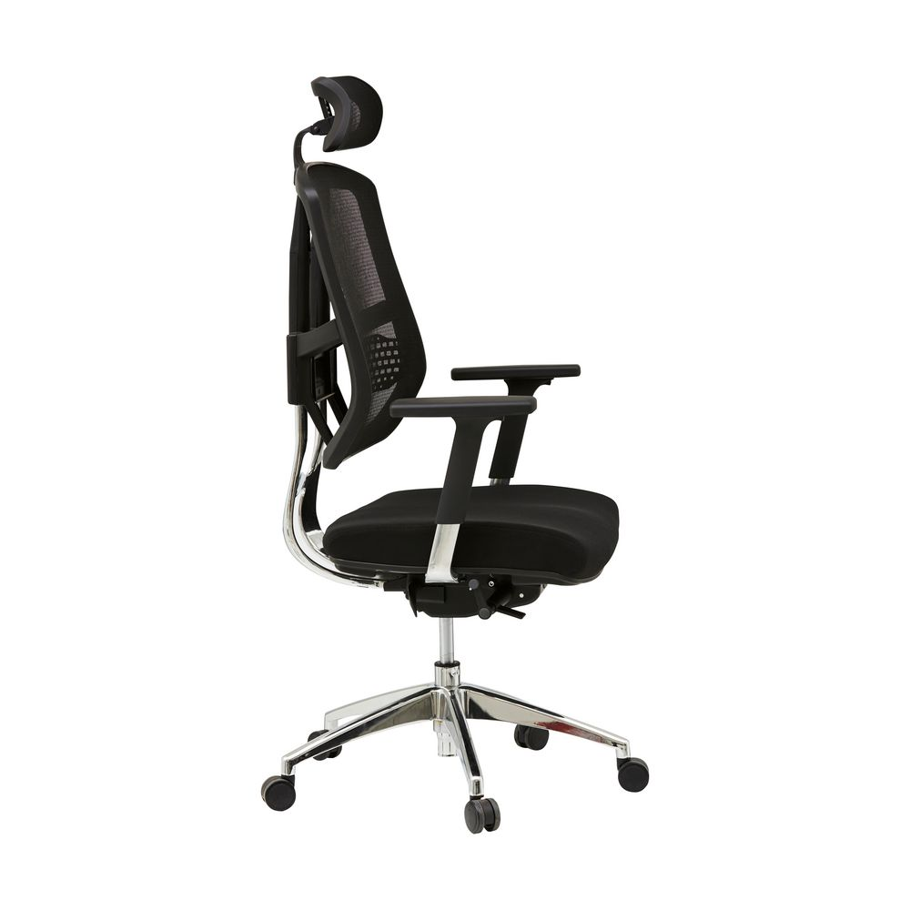 sonic ergonomic chair black officeworks. Black Bedroom Furniture Sets. Home Design Ideas