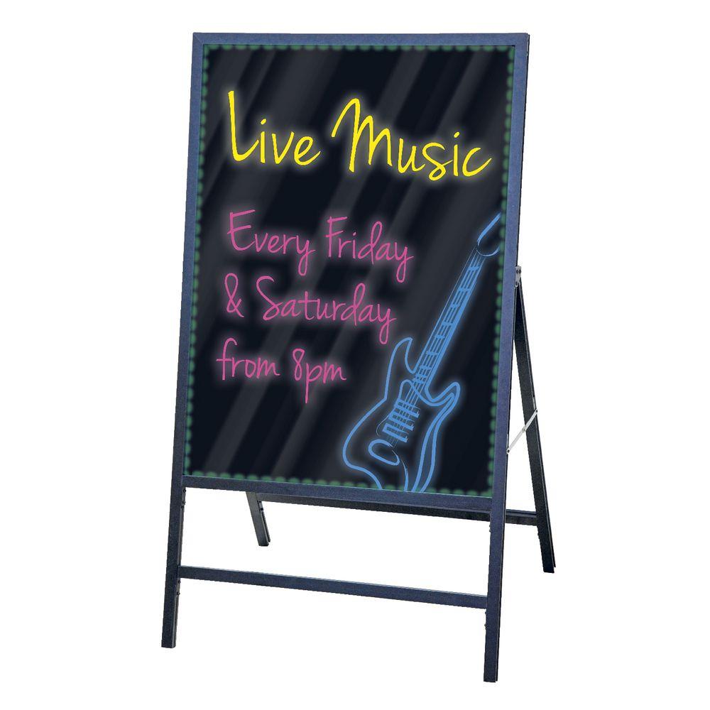 quartet led display easel board - Display Easel