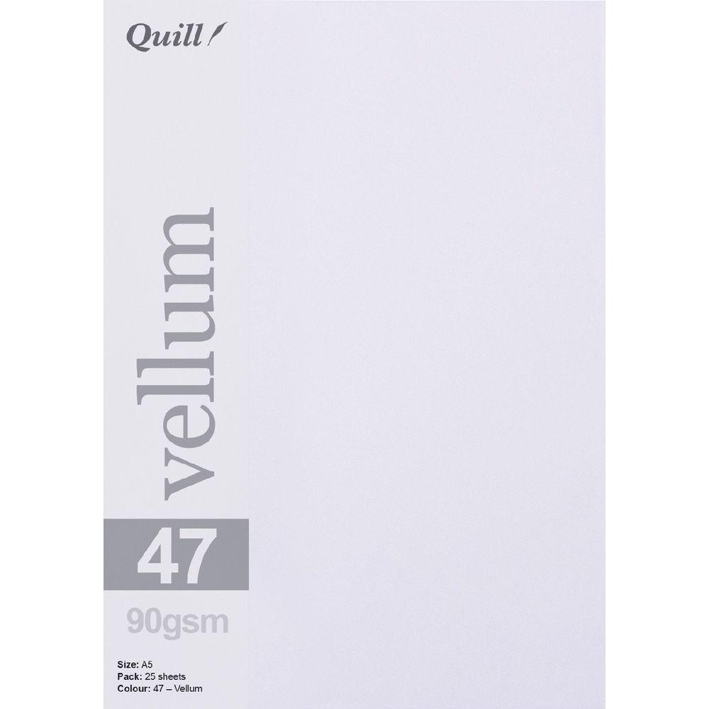 d9b48ad9f43ef Quill A5 90gsm Vellum Paper Transparent 25 Pack | Officeworks