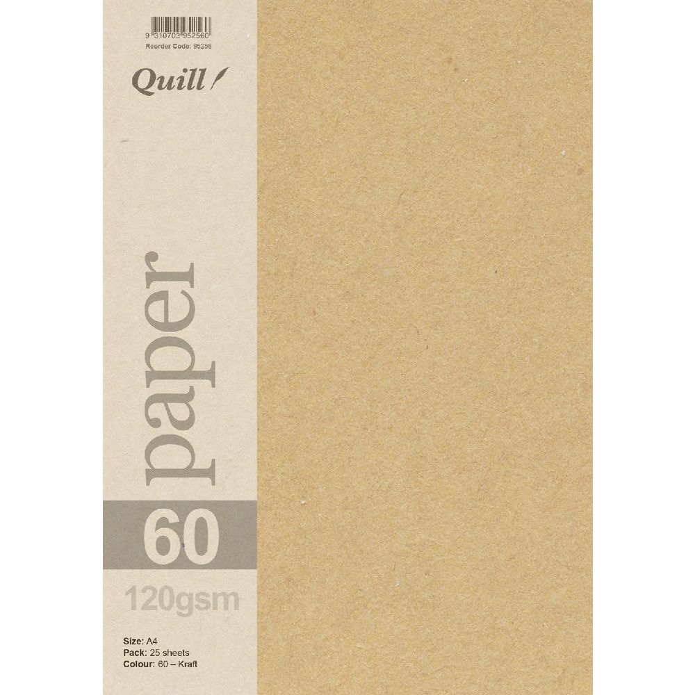 Quill A4 120gsm Kraft Paper 25 Pack | Officeworks