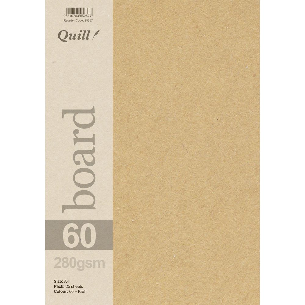 Quill A4 280gsm Kraft Board 25 Pack | Officeworks