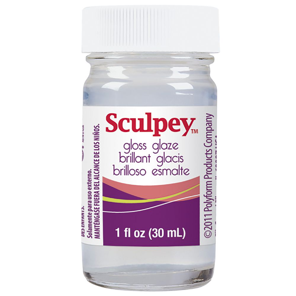 Sculpey Gloss Glaze Glossy Finish Sealer For Polymer Clay