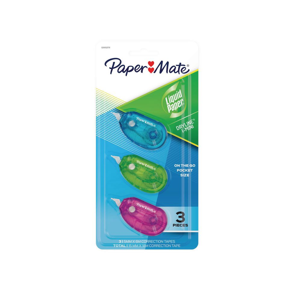 3x Pentel Correction Tape Retractable Design 5mm*6m Made in Japan Gift New Cheap