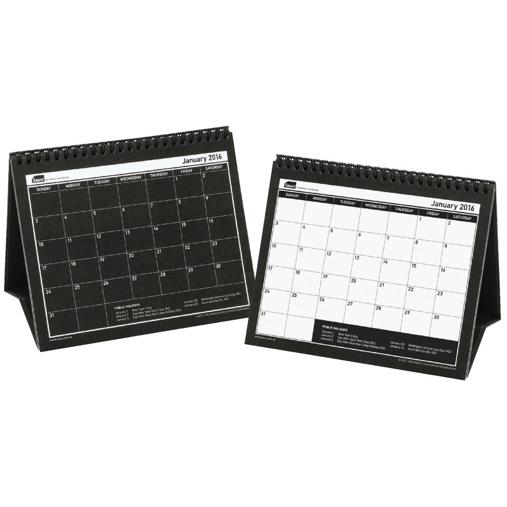 Table Calendar 2016 : Sasco desk calendar officeworks