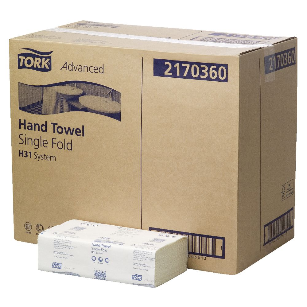 Hand Towels Meaning: Tork Advanced H31 System Hand Towels 150 Sheet 24 Pack