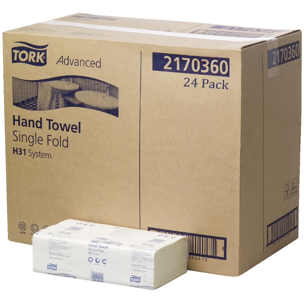 Hand Towels Officeworks: Tork Advanced H31 System Hand Towels 150 Sheet 24 Pack