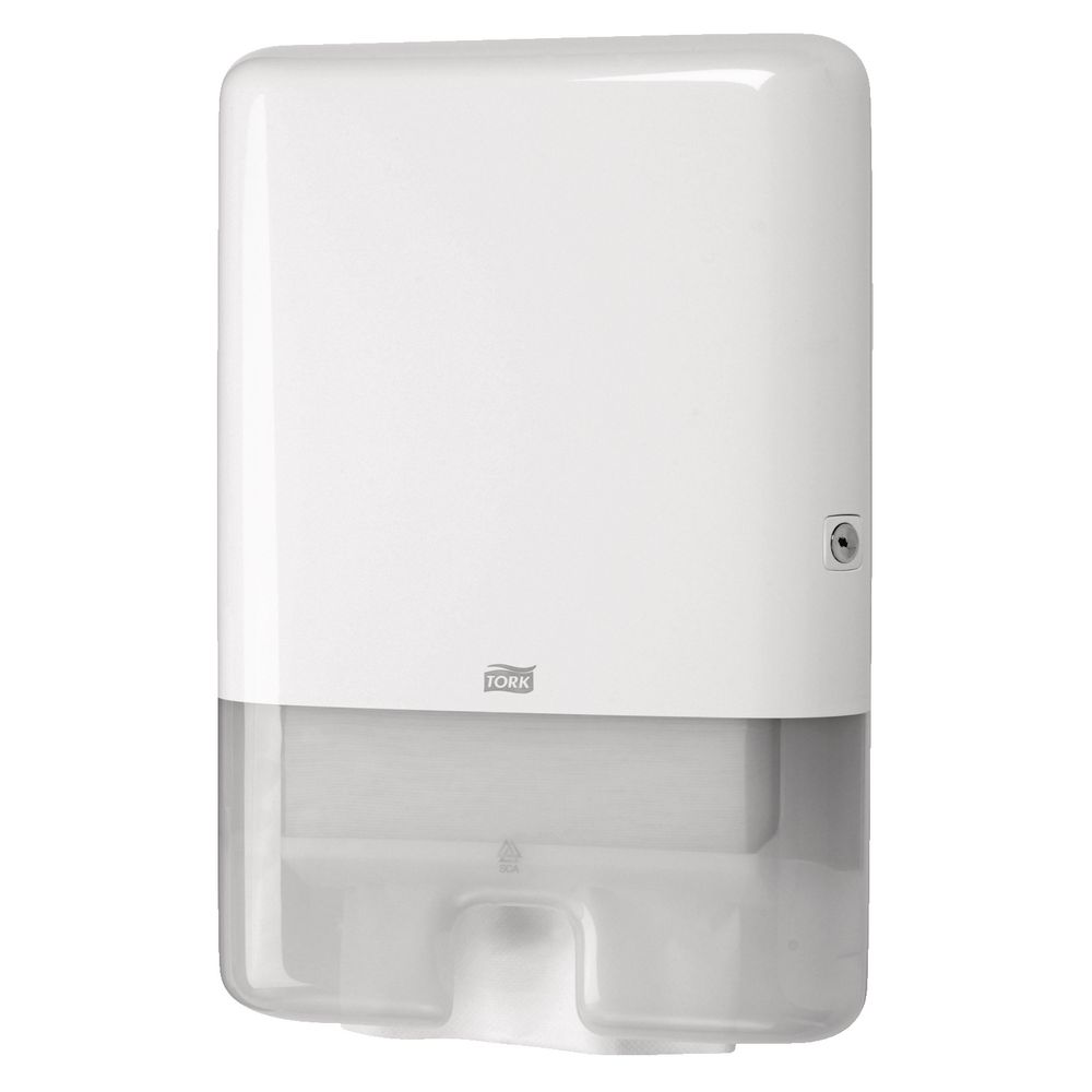Hand Towel Dispenser B Q: Tork H2 System Interfold Hand Towel Dispenser White