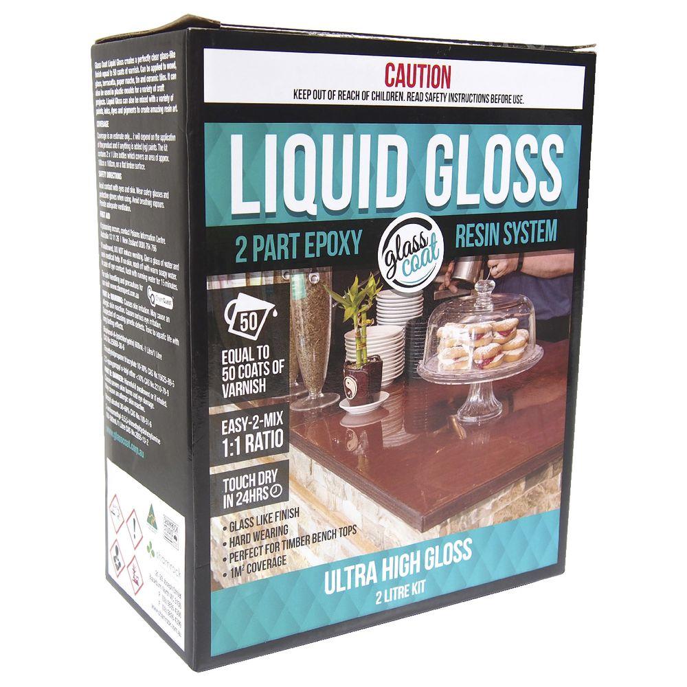 Craftsmart Glass Coat Liquid Gloss Kit 2L | Officeworks