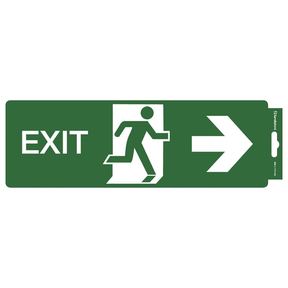 Sandleford Exit Right Self Adhesive Sign Officeworks