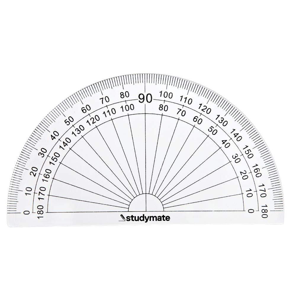 worksheet Protractor Image studymate 180 degree protractor officeworks protractor