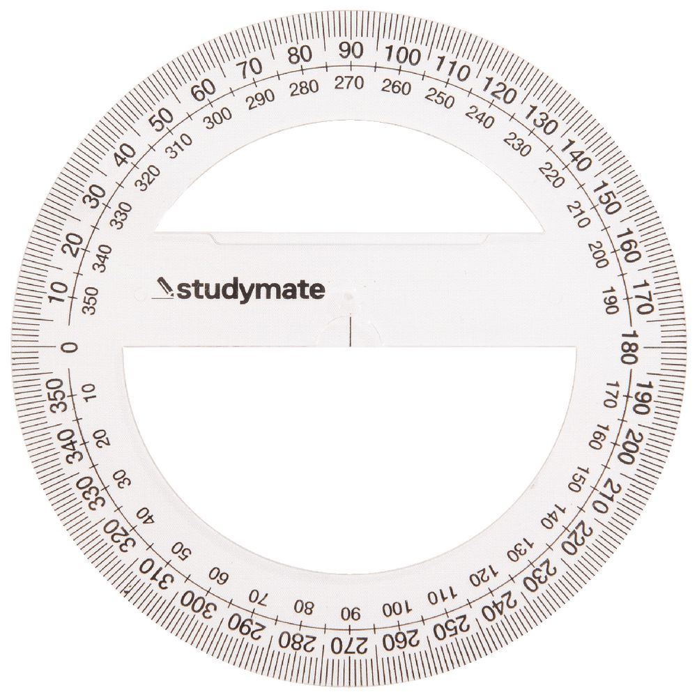 image about Printable Protractor 360 named Studymate 10cm 360 Diploma Protractor