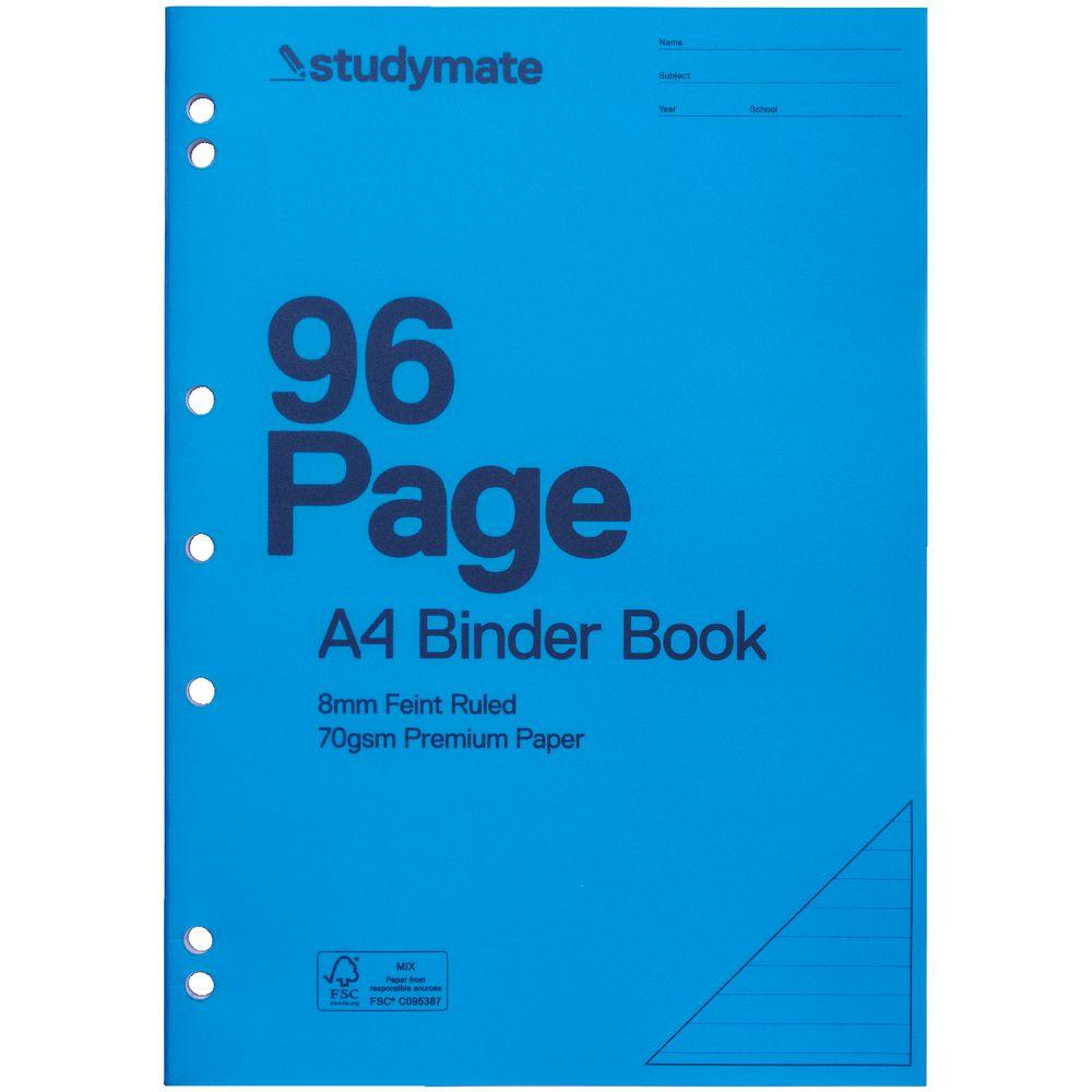 Studymate A4 Binder Book 96 Page Blue