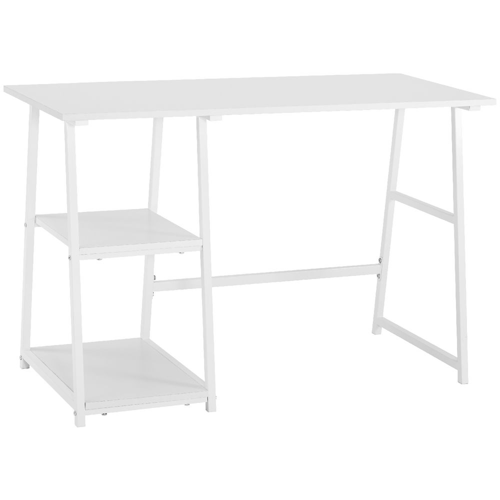 dyson trestle table white rh officeworks com au white trestle desk best price white trestle desk with drawer