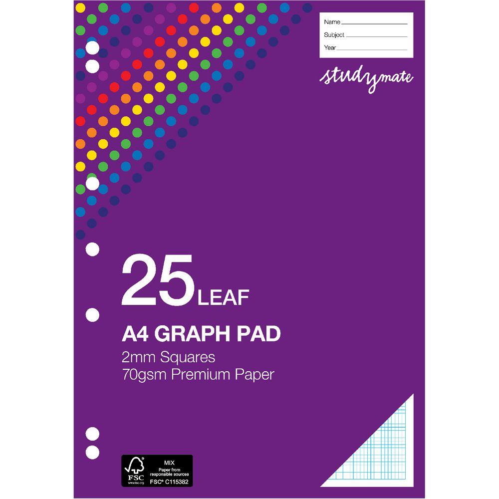 Studymate Premium A4 Graph Pad 2mm Officeworks
