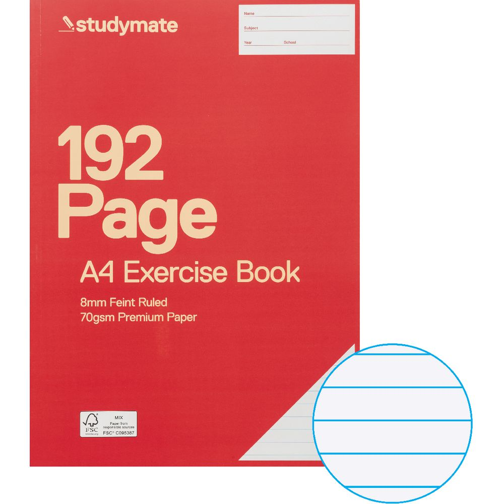 How To Make A Exercise Book Cover ~ Studymate premium a exercise book page officeworks