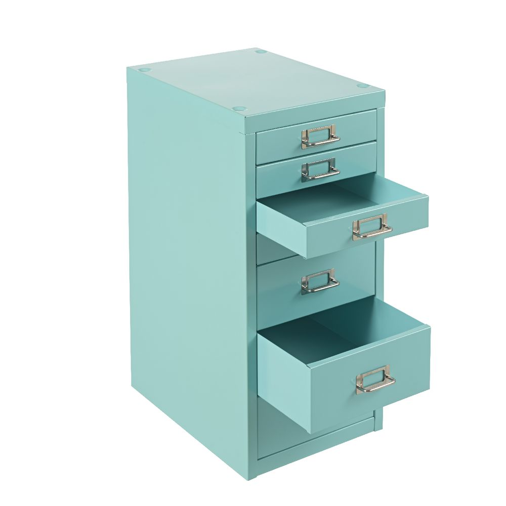 Spencer 7 Drawer Cabinet Aqua | Officeworks